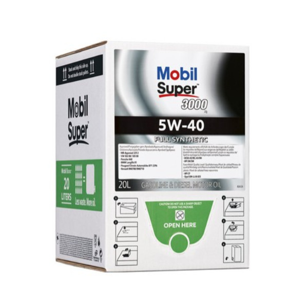 Mobil Super™ 3000 X1 5W-40 Bag in Box 20L