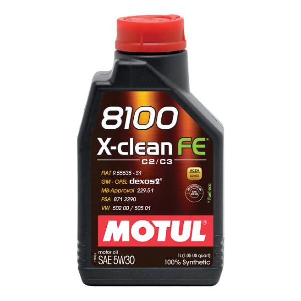 Motul 8100 X-Clean FE C2/C3 5W-30 1L